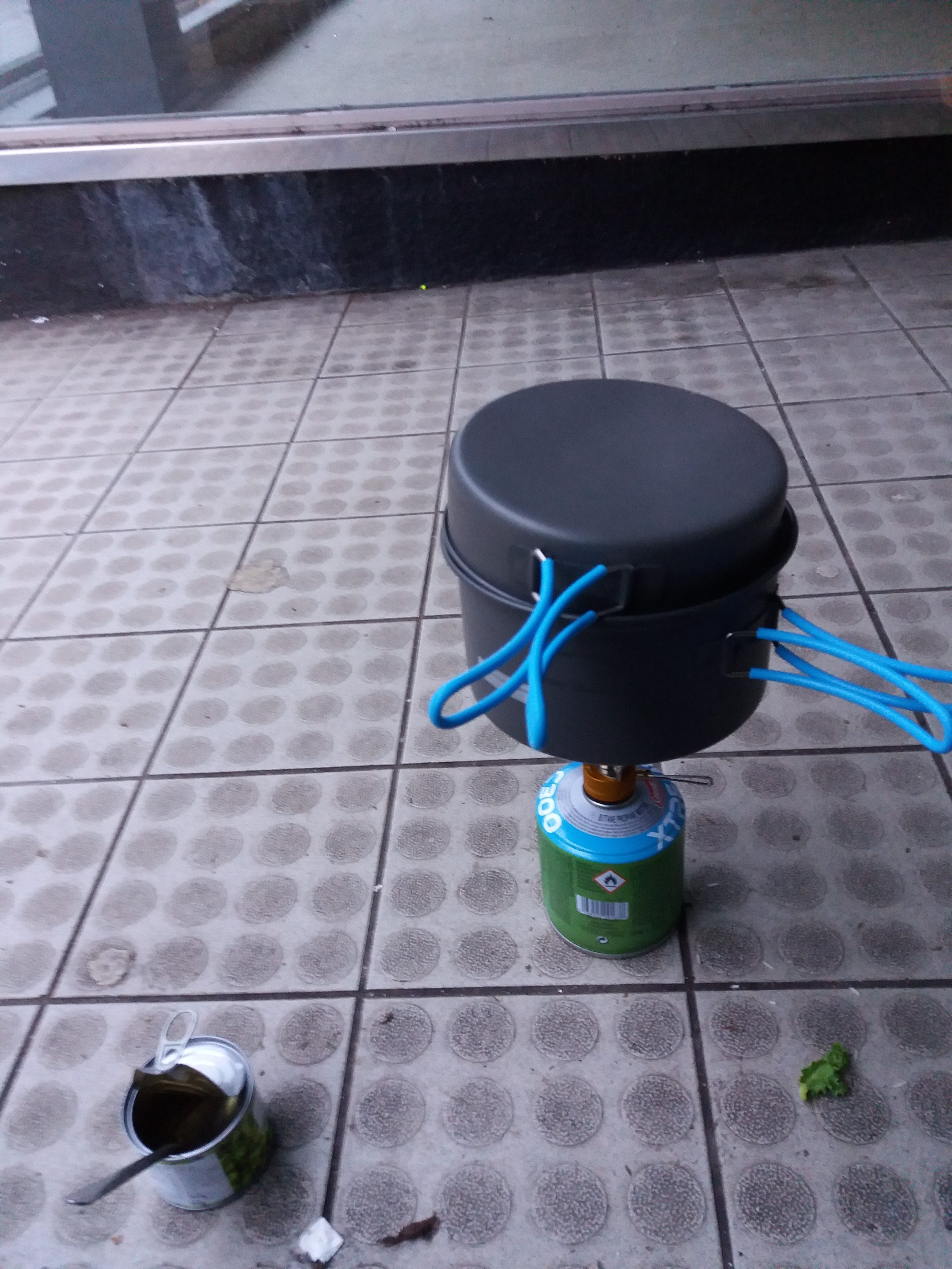 Street Cooking on camping stove